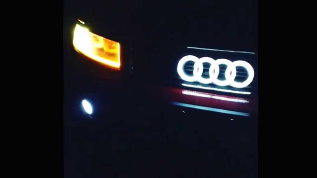 audi a4 b6 headlights led emblem costume devil eyes youtube. Black Bedroom Furniture Sets. Home Design Ideas
