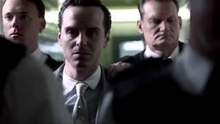 Sherlock - Moriarty trial entry scene
