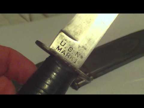 WORLD WAR TWO US NAVY MARK 1 UTILITY KNIFE, CAMILLUS, NEW YORK