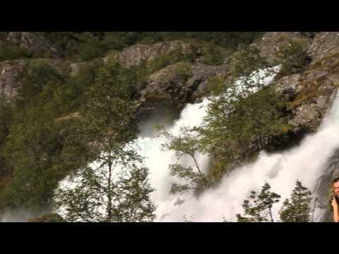 Briksdalen waterfall in Norway - beauty of Scandinavia