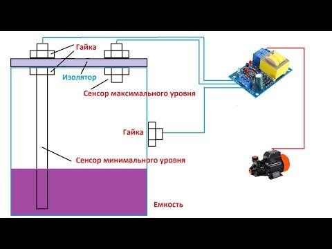 СУПЕР ПРОСТОЙ самодельный датчик уровня воды и сам модуль управления насосной станцией