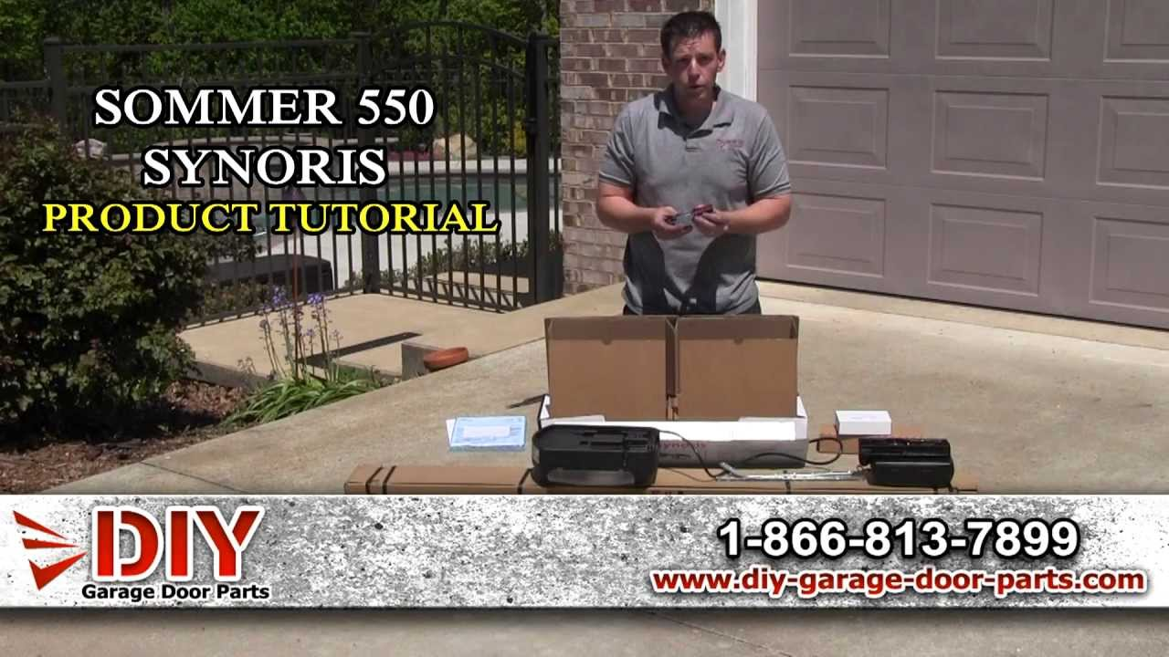 Sommer 550 Synoris Garage Door Opener Overview Youtube