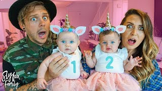 NOT READY FOR TWIN BABIES!! 👶🏻👶🏻   Slyfox Family