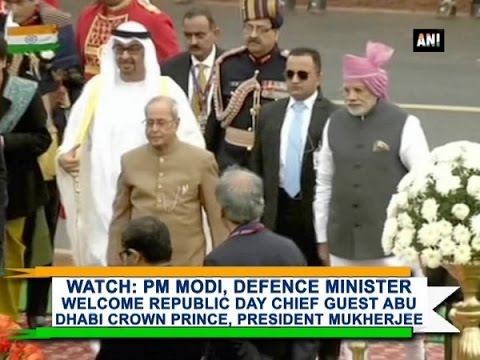 Watch: PM Modi, Defence Minister welcome Republic Day Chief Guest, President Mukherjee