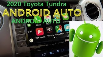 2020 Tundra - Toyota Connect & Android Auto