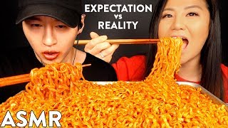 EXPECTATIONS vs REALITY with HYUNEE EATS | NUCLEAR FIRE NOODLE MUKBANG