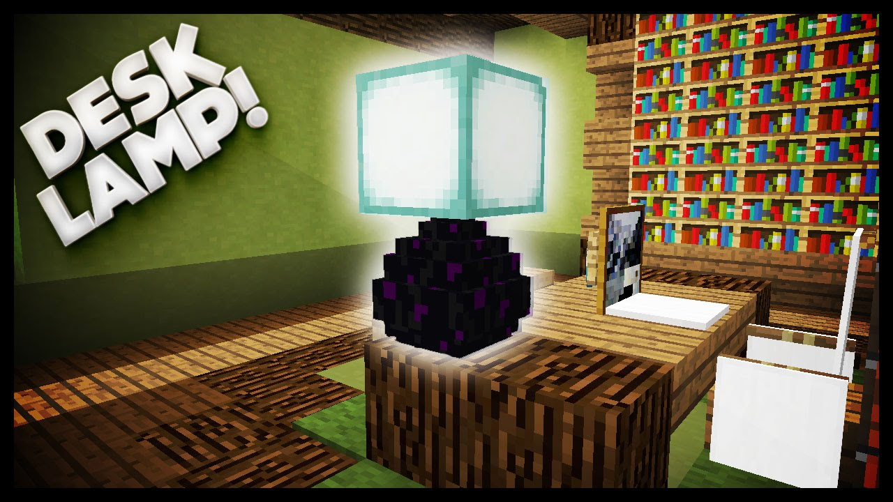 Minecraft   How To Make A Desk Lamp   YouTube