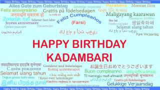 Kadambari   Languages Idiomas - Happy Birthday