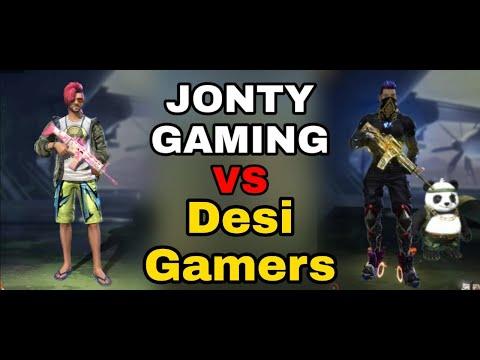 Jonty Gaming VS Desi Gamers || 10 Kill Challenge In Training Match || Free Fire