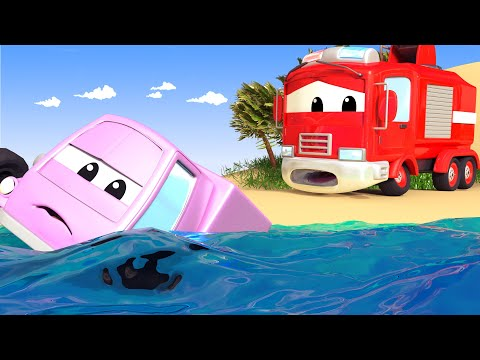 The FLOODING River - The Car Patrol in Car City Police Car & Fire Truck for Kids