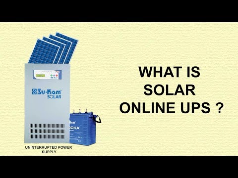 What is Solar UPS ? How does Solar online UPS work ?