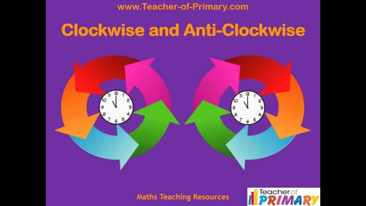 Clockwise and Anti Clockwise - Teaching Resource - YouTube [ 720 x 1280 Pixel ]