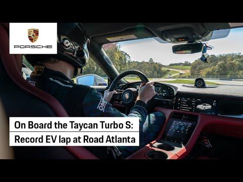 On Board the Taycan's Record Lap at Michelin Raceway Road Atlanta