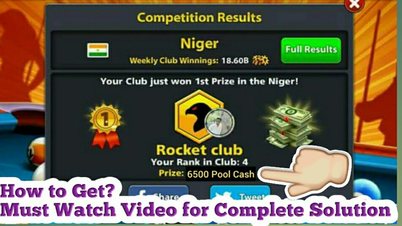 How to Get 6500 Cash of Club Country Solution-8 Ball Pool-New Beta Version  4 0