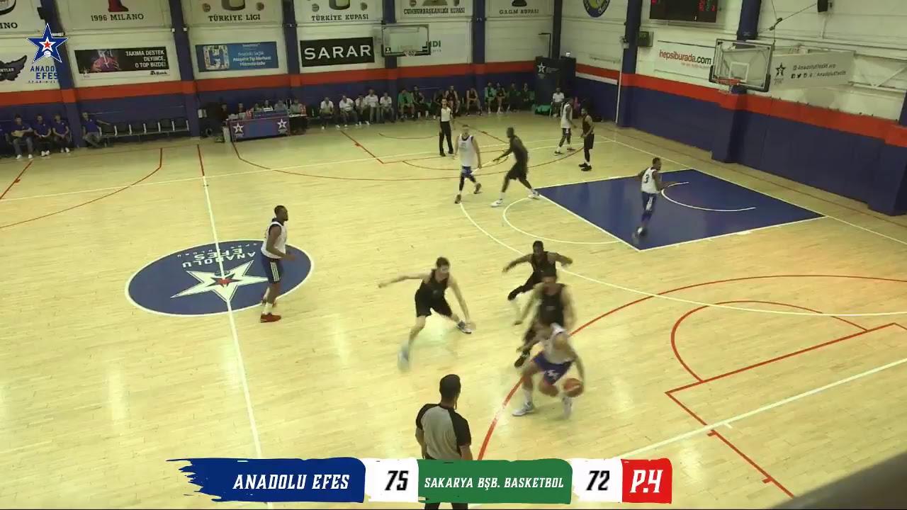Anadolu Efes - Sakarya BŞB Basketbol Hazırlık Maçı