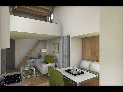 Dise o interior apartamento 32 8 m2 youtube for Disenos de apartamentos