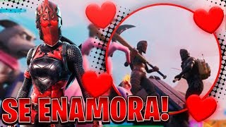 RED LADY Girl Falls In Love Boy With Fortnite Exclusive BLACK KNIGHT Skin