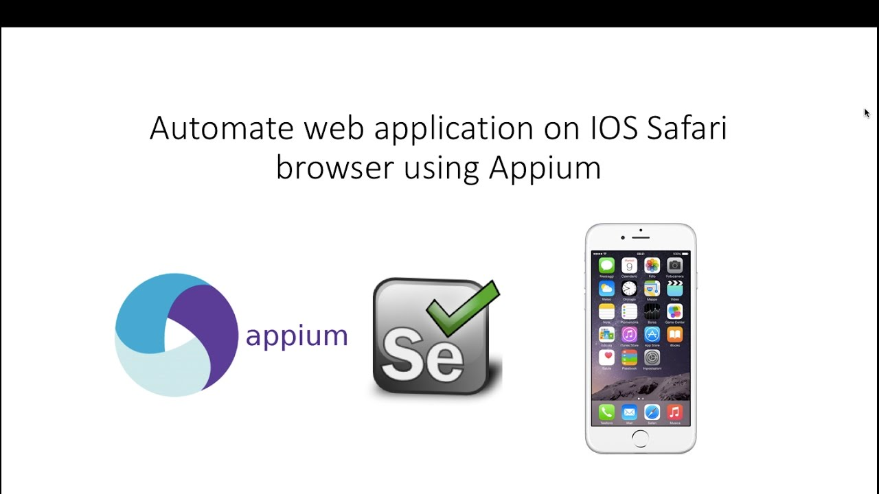 Selenium Appium with IOS-Automate web application on IOS Safari browser  using Appium