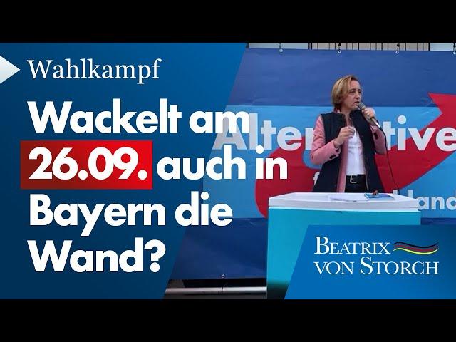 Beatrix von Storch (AfD) - Rede Wahlkampfauftritt am 17.09.2021 in Rosenheim