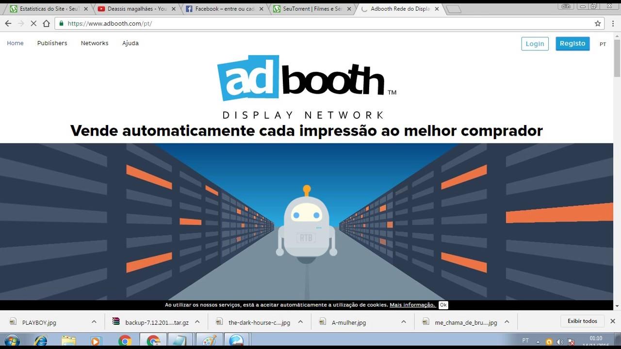Ganhe Dinheiro com seu site com o Adbooth [Altas taxas de CPM]