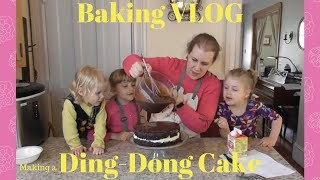 Baking Vlog: 1st Time Making A Ding-Dong Cake with Kids