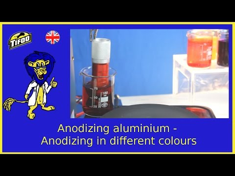 DIY multi color anodizing of aluminum with Tifoo anodising kit