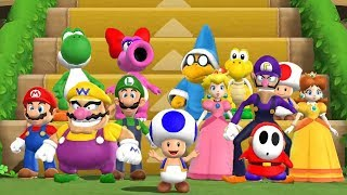 Mario Party 9 - Step It Up - All Characters Gameplay
