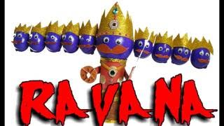 MAKE RAVANA WITH KINDER JOY CUPS | HOW TO MAKE RAVANA AT HOME | BEST OUT OF WASTE COMPETITION | K