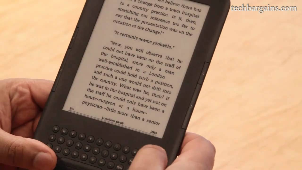 Amazon Kindle (3rd Generation) Video Review (HD)