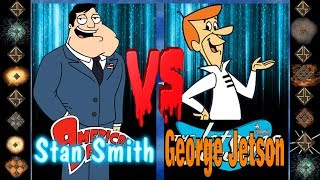 Stan Smith (American Dad) vs George Jetson (Hanna-Barbera) - Ultimate Mugen Fight 2017