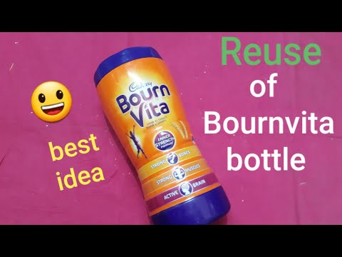 Reuse of bournvita bottle | Best out of waste | bournvita bottle reuse idea | question bank