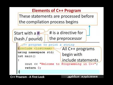 C++ Program  -  A First Look