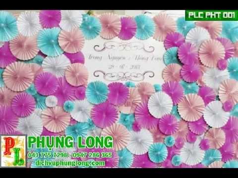 Phông cưới hoa giấy, trang trí phông cưới với hoa giấy Origami