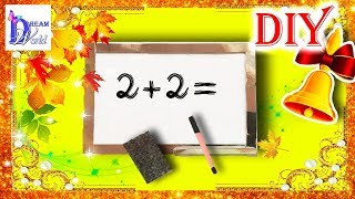 Как сделать школьную доску для кукол. DIY. How to make a school whiteboard for Dolls.(, 2015-08-27T11:54:27.000Z)