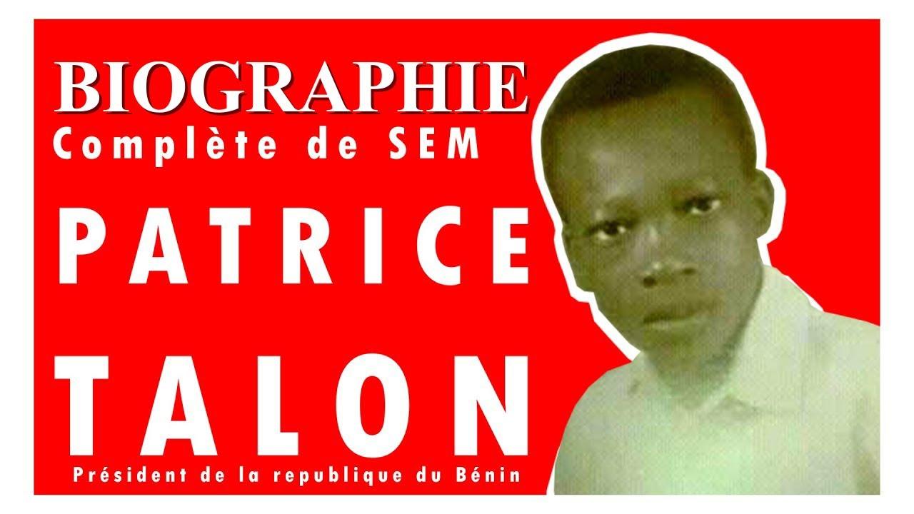 BIOGRAPHIE COMPLETE DE PATRICE TALON
