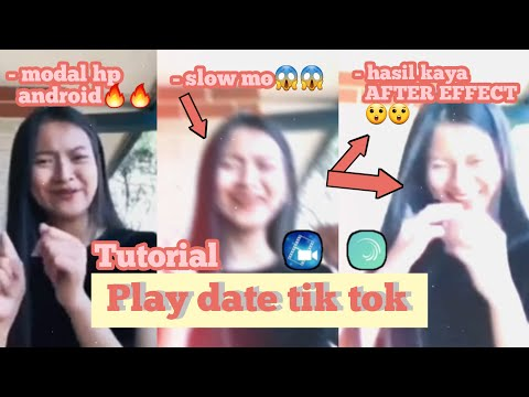 TUTORIAL TIKTOK TREND EDIT PLAY DATE | PAKE HP HASIL KAYA ADOBE AFTER EFFECT