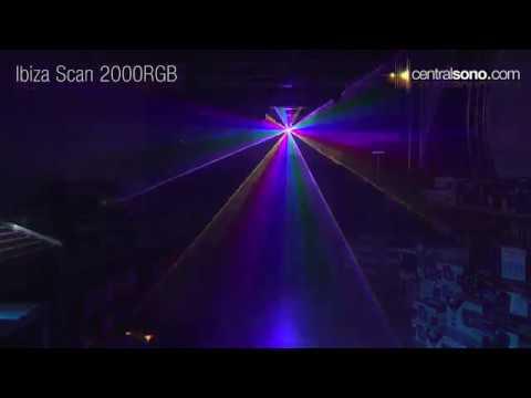 Ibiza SCAN 2000 RGB - Laser 2 Watts RGB DMX & ILDA