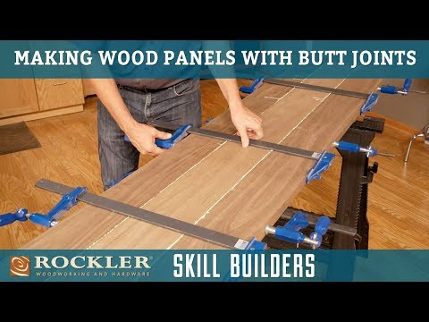 Gluing Up Wood Panels with Butt Joints and Biscuits   Rockler Skill Builder