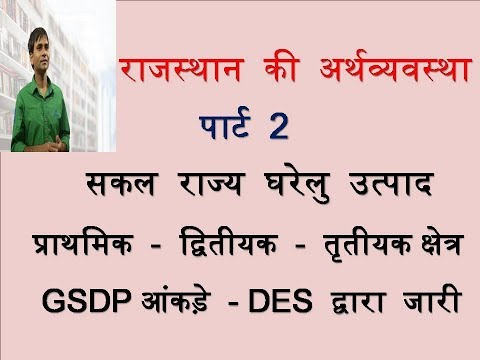Rajasthan Economics-  Gross State Domestic Product
