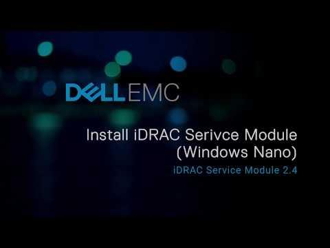 Installation of the iDRAC Service Module on Microsoft Windows Nano  operating systems