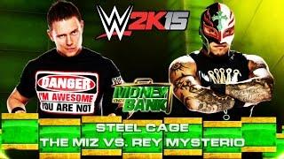 WWE 2K15 (PS3) - Money In The Bank: The Miz VS Rey Mysterio (Steel Cage)