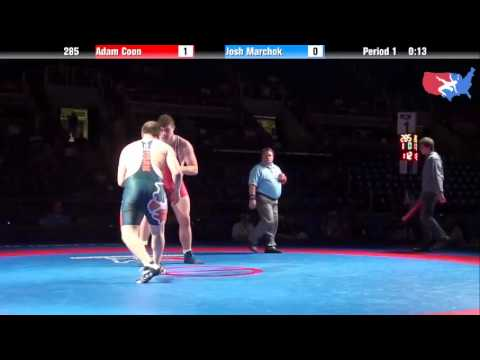 Fargo 2012 285 1st Place Match: Adam Coon (Michigan) vs. Josh Marchok (Illinois)