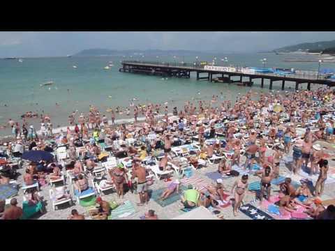 Пляж пос. Кабардинка июль 2016 г. как в былые времена !
