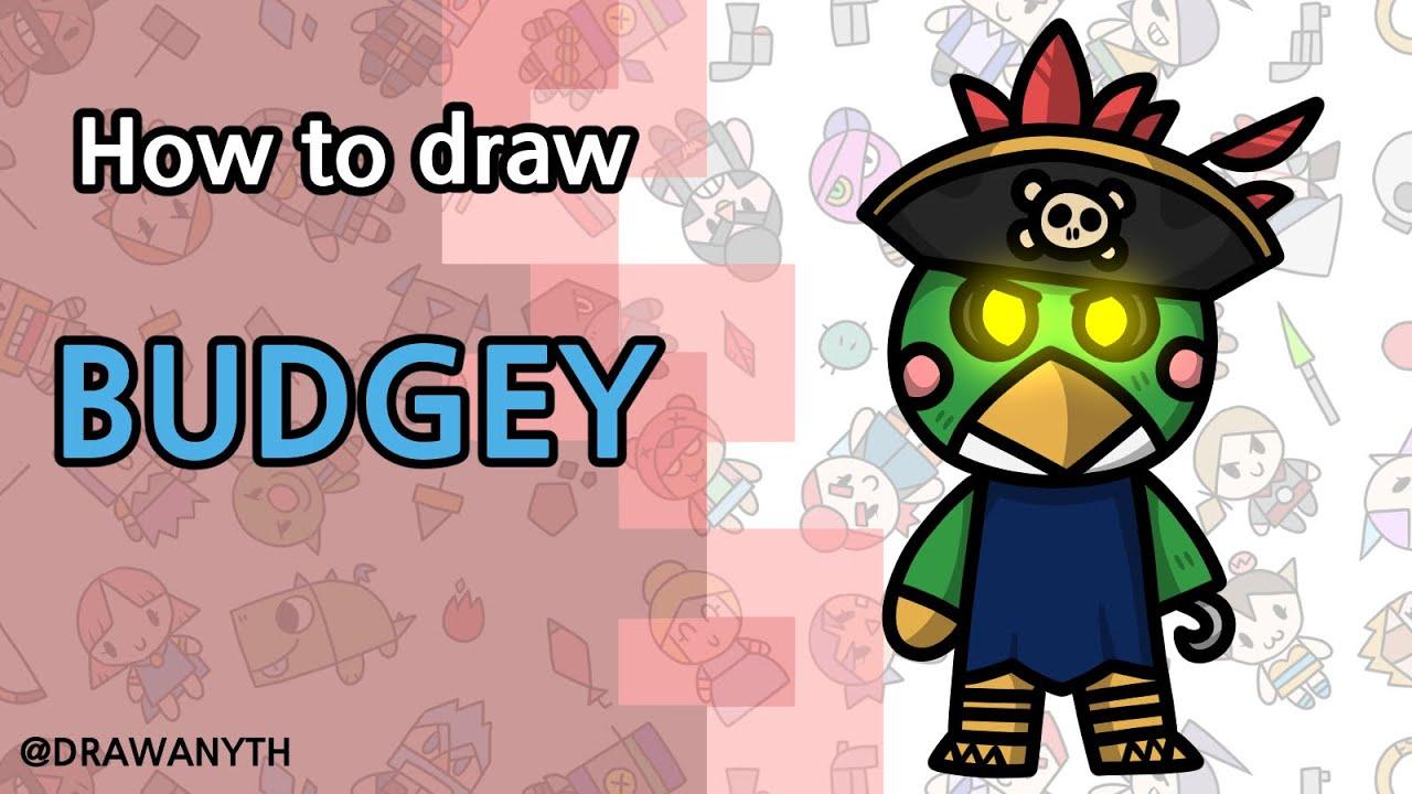 How to draw Budgey | Roblox Piggy | New Skin