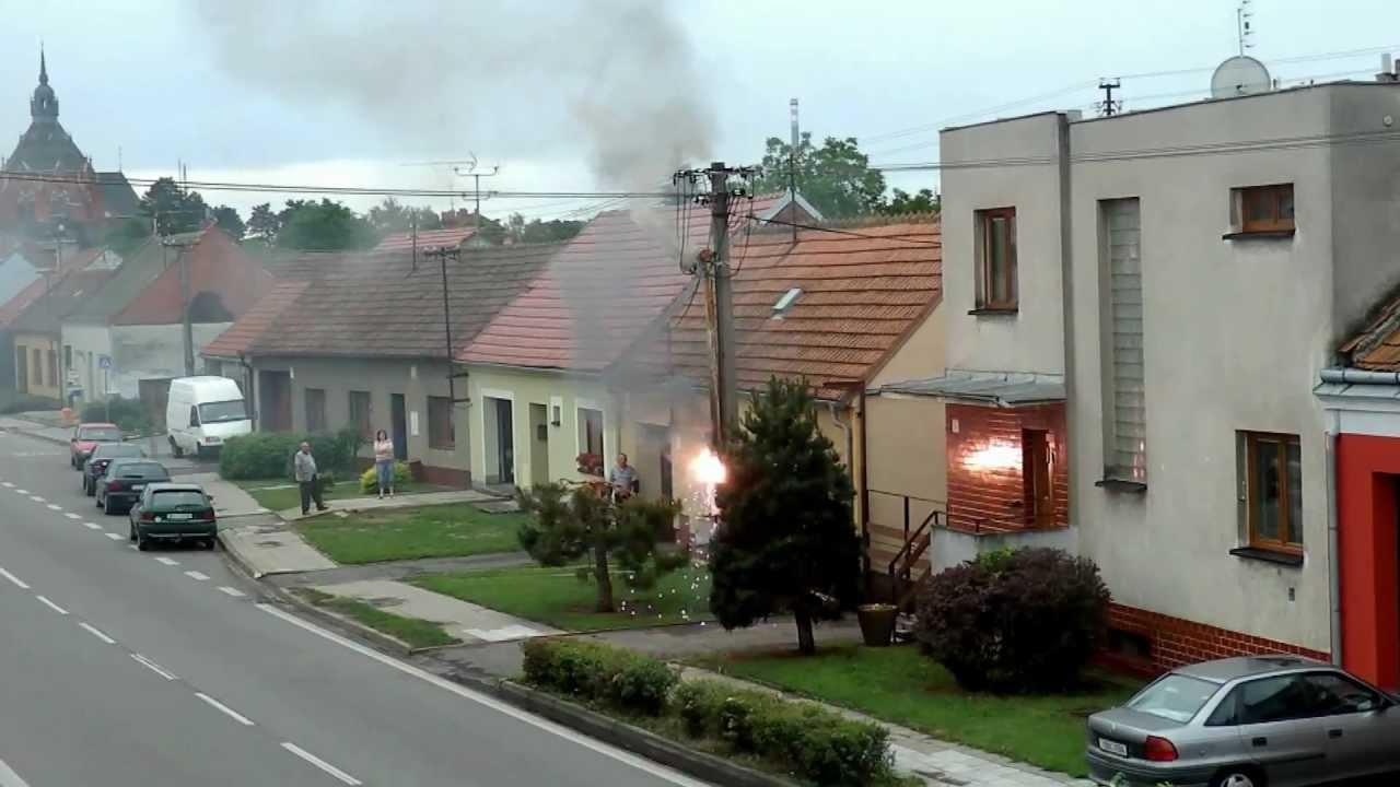 požár el. rozvodny Břeclav/Poštorná