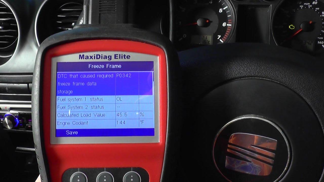 Seat Freeze Frame Engine Data - YouTube