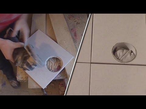 видео: Как вырезать отверстие в плитке болгаркой