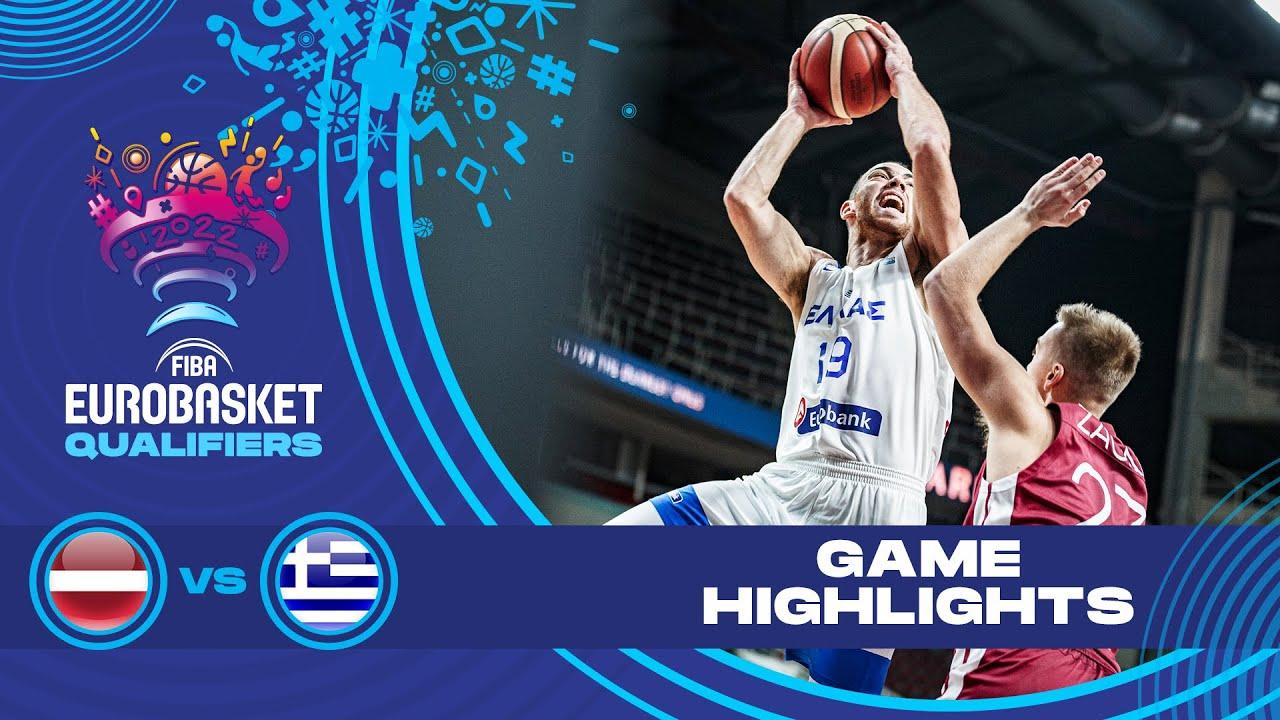 Latvia - Greece   Highlights - FIBA EuroBasket 2022 Qualifiers