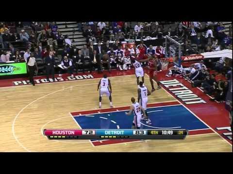 [10.31.12] James Harden - 37 points (12 assists) vs Pistons (Rockets Debut) (Full Highlights)