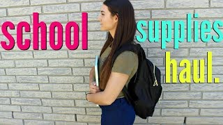 BACK TO SCHOOL SUPPLIES Haul 2017 !!